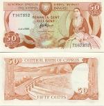 Cyprus 50 Cents 1989 (T1968xx) UNC