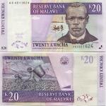 Malawi 20 Kwacha 2004 (AK40116xx) UNC