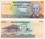 Nicaragua 50000 Cordobas (1989) UNC