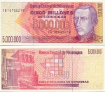Nicaragua 5 Million Cordobas (1990) UNC
