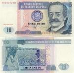 Peru 10 Intis 1987 (A50662xxN) UNC