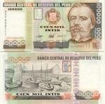 Peru 100000 Intis 1989 UNC
