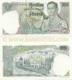 Thailand 20 Baht (1971-81) (78:X:404117) UNC