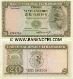 Timor 20 Escudos 1967 (light stains) UNC