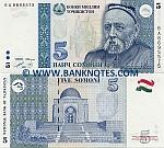 Tajikistan 5 Somoni 1999 (2000) UNC