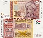 Tajikistan 10 Somoni 1999 (2000) UNC