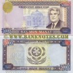 Turkmenistan 5000 Manat 2000 (AW26943xx) UNC