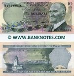 Turkey 10 Lira (1966) UNC