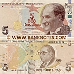 Turkey 5 Lira 2009 UNC