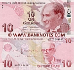 Turkey 10 Lira 2009 UNC