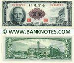 Taiwan 1 Yuan (1961) (N604176S) UNC