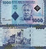 Tanzania 1000 Shillings (2010) UNC