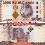 Tanzania 2000 Shillings (2010) UNC