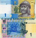 Ukraine 1 Hryvnia 2011  (KA8755xxx) UNC