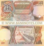 Uganda 200 Shillings 1996 (DZ3958xx) UNC