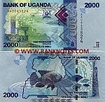 Uganda 2000 Shillings 2010 (AA00438xx) UNC