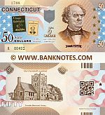 United States of America Connecticut 50 Dollars (2014) (not real money) UNC