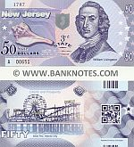 United States of America New Jersey 50 Dollars (2014) (not real money) UNC