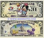 Disney 5 Dollars 2009 (D001058xx) UNC