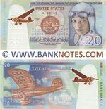 United States of America: 20 Dollars 2020 (Amelia Earhart Commemorative) (U 00361) UNC