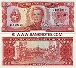 Uruguay 100 Pesos (1967-82) (A-4xxxxxxx) UNC