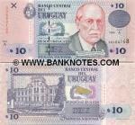 Uruguay 10 Pesos Uruguayos 1998 (A-049926xx) UNC