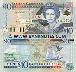 Saint Vincent & The Grenadines 10 Dollars (2000) UNC