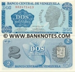 Venezuela 2 Bolivares 1989 AU-UNC