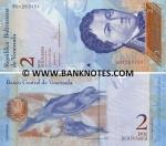 Venezuela 2 Bolivares 20.3.2007 (A517524xx) UNC