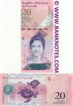 Venezuela 20 Bolivares 3.2.2011 (S566535xx) UNC