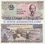 Viet-Nam 2000 Dong 1988 UNC