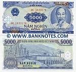 Viet-Nam 5000 Dong 1991 (JK 16331xx) UNC