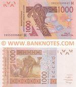 Niger 1000 Francs 2019 (19553599841) UNC