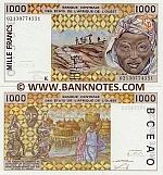 Senegal 1000 Francs 2002 (021307745xx) UNC