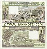 Togo 500 Francs 1985 UNC