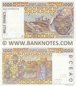 Togo 1000 Francs 2002 (T 0214366615x) AU-UNC