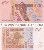 Togo 1000 Francs 2017 (177057359xx) UNC