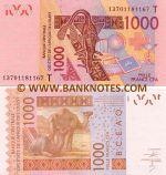Togo 1000 Francs 2013 (T 137011811xx) UNC