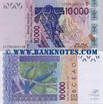 Togo 10000 Francs 2011 AU-UNC