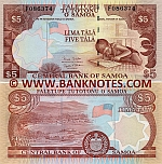 Samoa 5 Tala (2005) (F086317) UNC