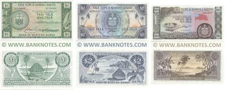 Western Samoa Set (3) of 1, 2, 10 Tala 1967 UNC