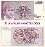 Yugoslavia 50 Dinara 1.6.1990 (circulated) VF