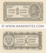 Yugoslavia 1 Dinar 1944 UNC