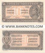Yugoslavia 10 Dinara 1944 UNC