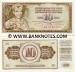 Yugoslavia 10 Dinara 1968 UNC