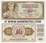 Yugoslavia 10 Dinara 1978 UNC