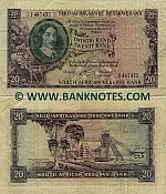 South Africa 20 Rand (1962-65) (circulated) F-VF