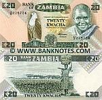Zambia 20 Kwacha (1980-88) UNC