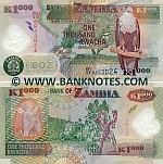 Zambia 1000 Kwacha 2011 (ER/03 88330xx) UNC
