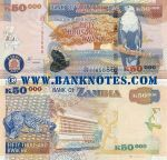 Zambia 50000 Kwacha 2012 UNC